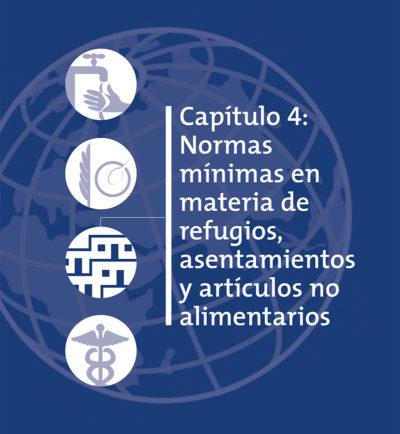 Normas mínimas en materia de refugios, asentamientos y artículos no alimentarios